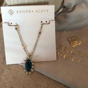 Kendra Scott Brett Necklace in Aqua Appatite-New